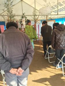 大津町の無床診療所の地鎮祭の様子